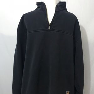 Mens Carhartt 1/4 Zip Heavy Pullover Charcoal Gray
